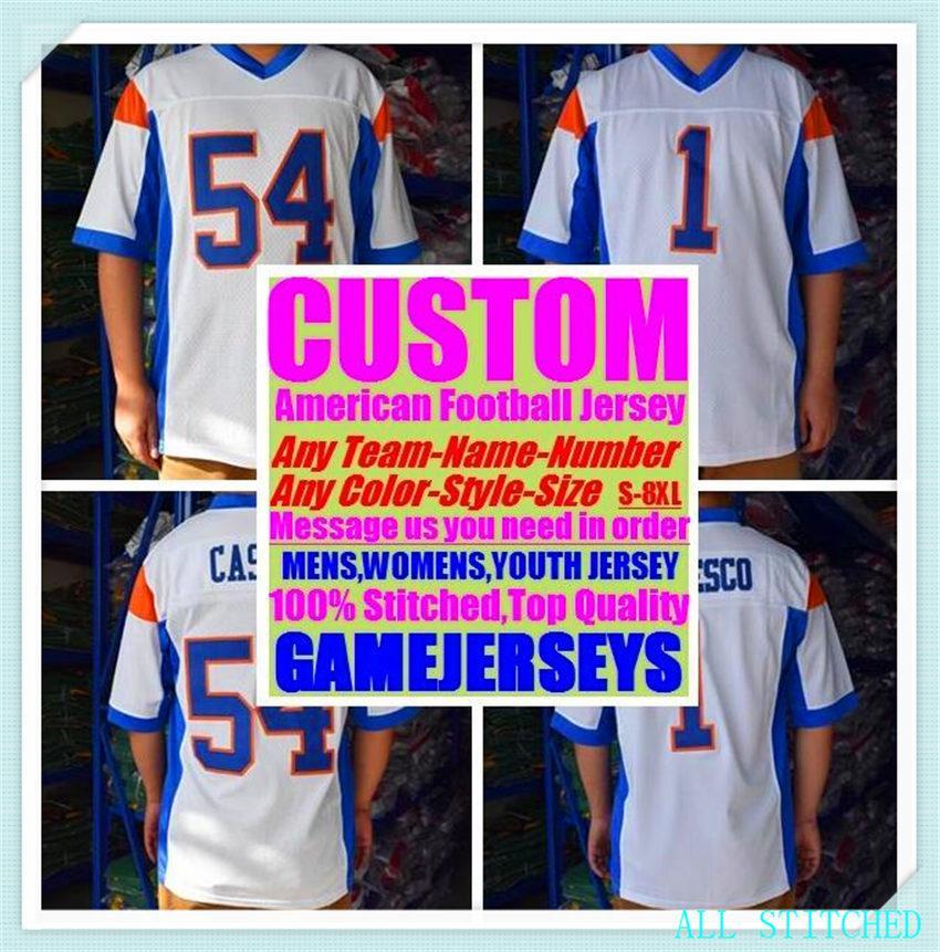 Custom Baseball Hockey Basketball Mens de Basket-ball Femme Jeunes Jerseys Football American Sports Vapeur Intouchable 2021 Jersey Commandez 4XL 5XL 6XL