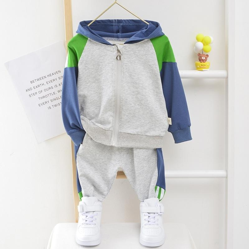 Toddler Boy Hooded Clothes 1 2 3 4 5 Years Cotton Baby Girl Sport Suit Boy Infant Long Sleeve 1-5 Years Spring Autumn Tracksuit 201028