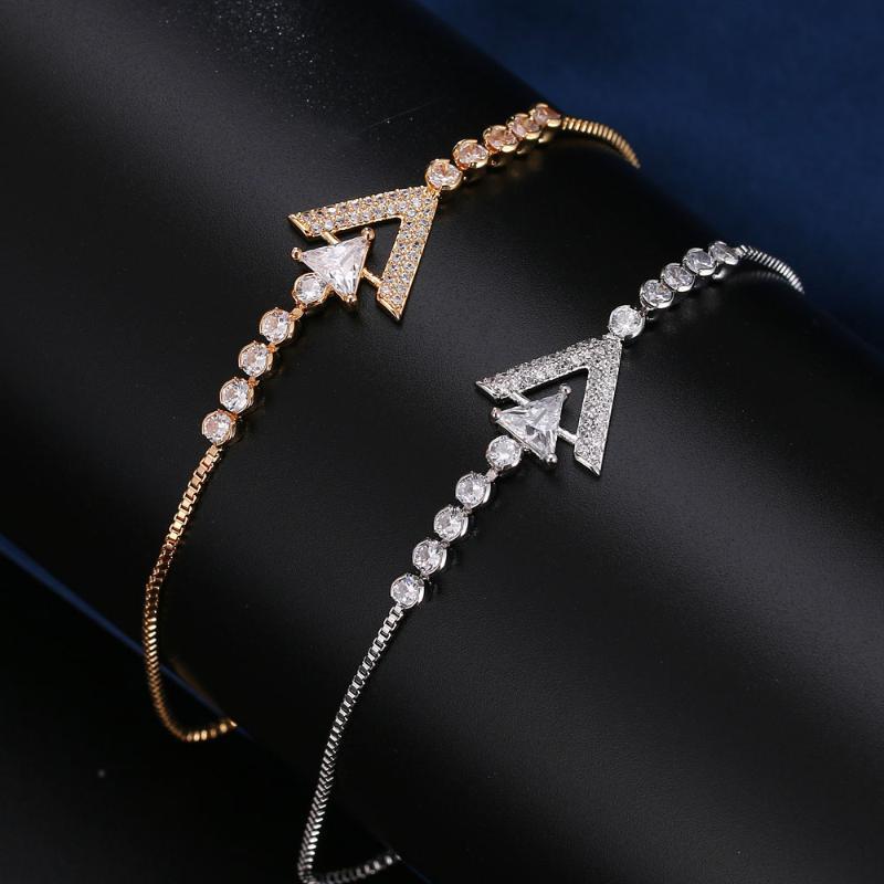 Honghong bracelets à fermeture à glissière réglable de haute qualité pour les femmes en forme d'ancre bracelet classique bijoux à la mode # H80065