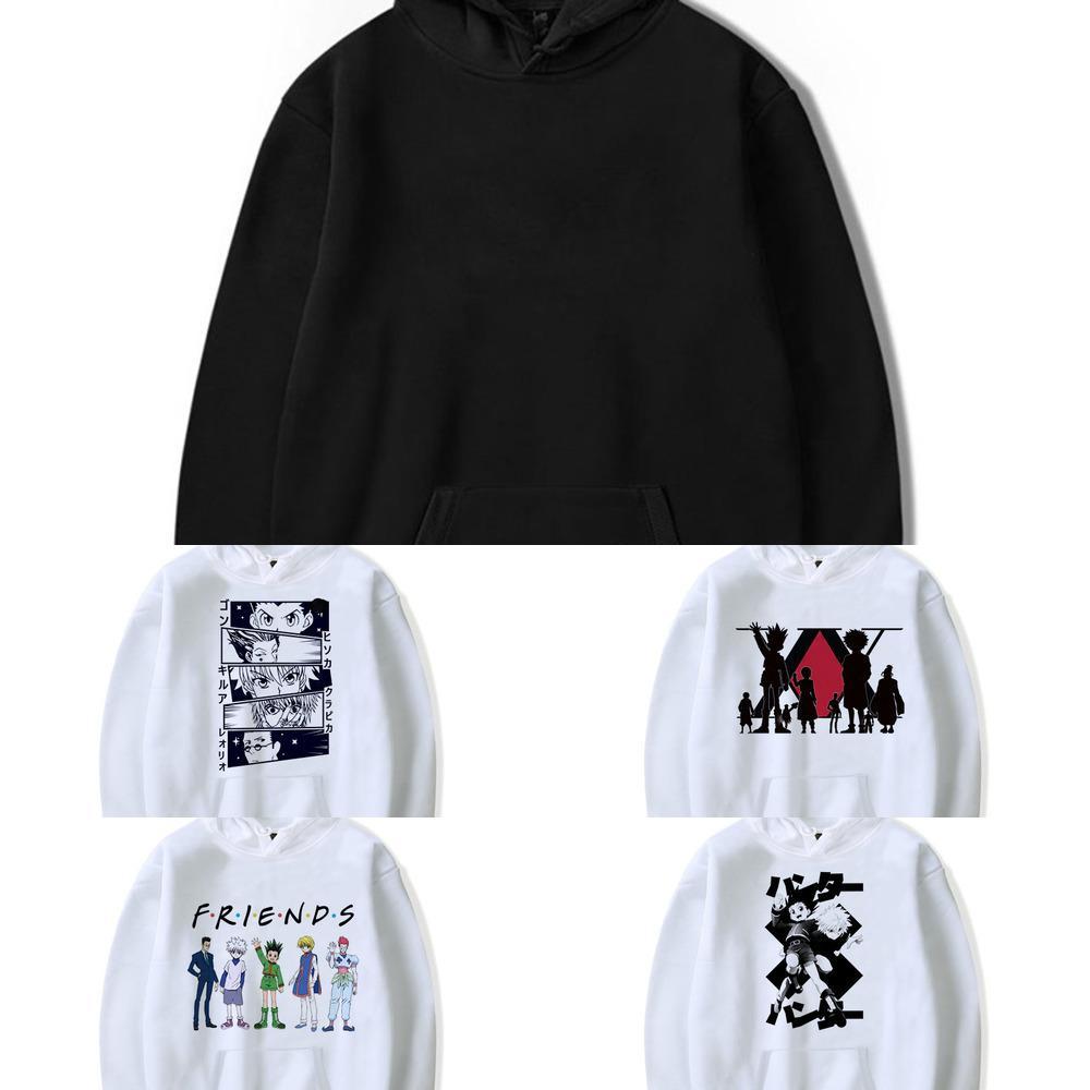 Hunter x caçador hoodies homens kawaii japonês anime hoodies harajuku honoka killua zoldyck cartoon streetwear sweetshirts masculino q1222