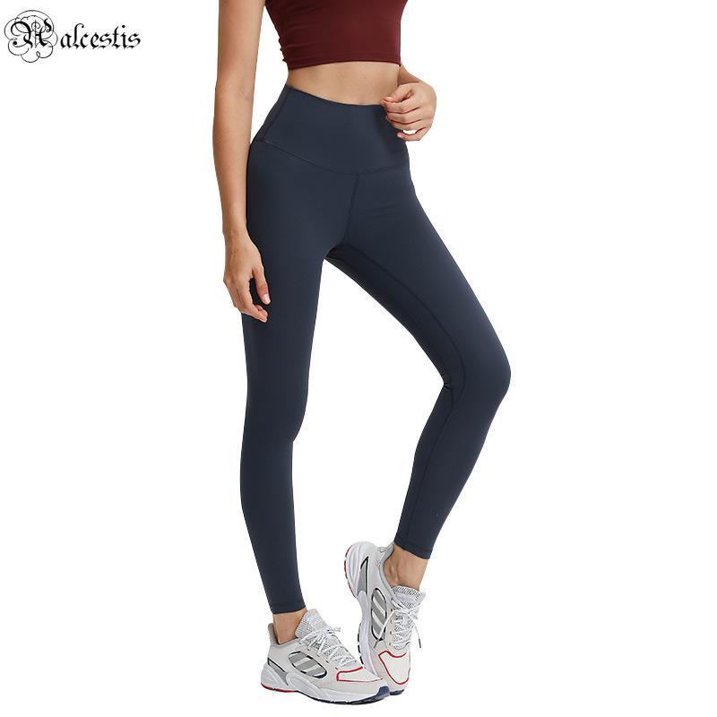 2021 Sexy Bottoming Yoga Calças Mulheres High-Cintura Hip-Lifting Correndo Apertado Pés Elásticos Esportes Calças De Fitness