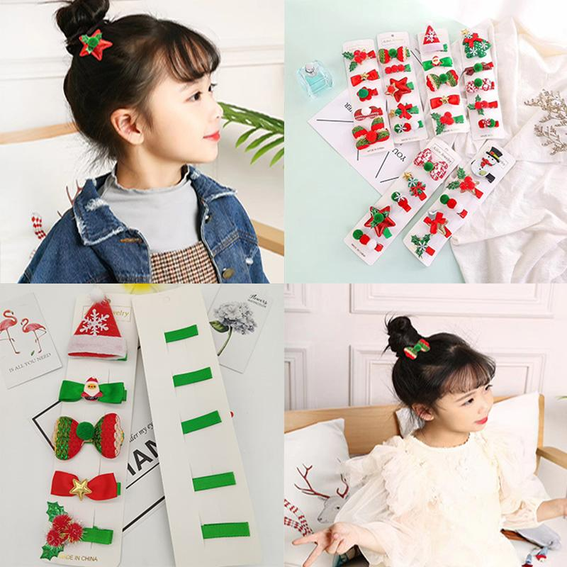 Christmas gift hairpin set children hair accessories holiday gift princess Christmas hairpin girl hair accessories side clip