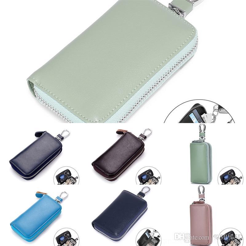 Yeo Designer Tote Key Bag Inhaber Hohe Qualität Leder Schlüssel Männer Kurze Geldbörsen für Frauen Männer Münze Geldbörse Luxus Brieftasche Kupplungsbeutel Karte