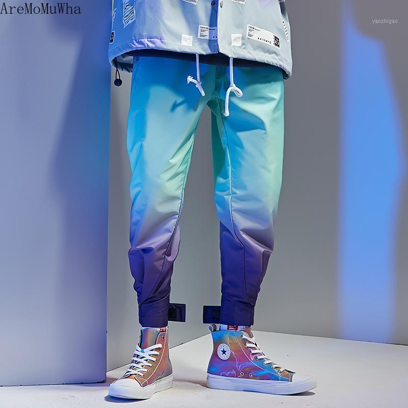 Aremomuwha Neue Farbverlauf Farbhose Männer Gezeiten Marke Korean Casual Hosen Persönlichkeit Trend Lose Sport Hip-Hop Pants QX14491