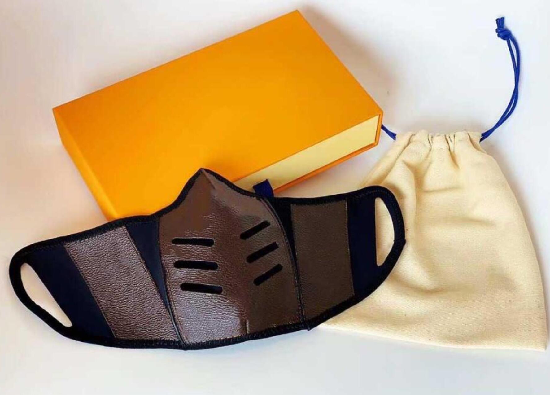 20SS Top Quality Moda Designer Máscara facial para homens mulheres couro luxo homem reutilizável boca lavável mens máscaras sem caixa
