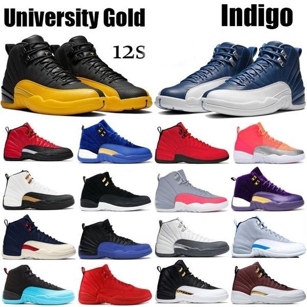 Ucuz Kalite 12 12s basketbol ayakkabıları Ters Gribi Oyunu Kraliyet Koyu Concord Gym Kırmızı Taksi Beyaz Siyah Gri açık botlar spor ayakkabıları mens
