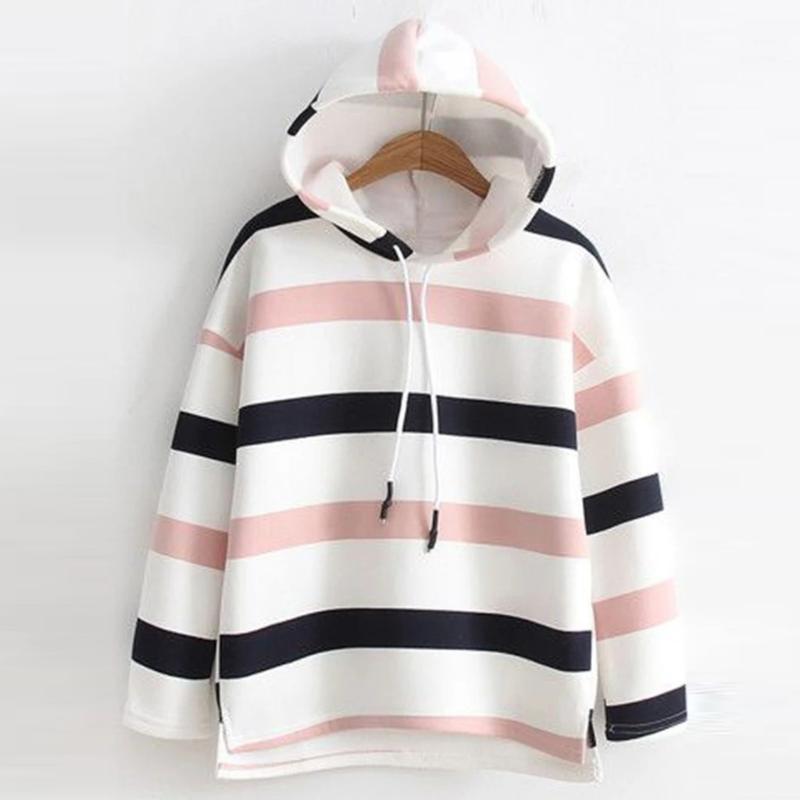 Casual Sweat à capuche Sweathed Dames Sweatershirt Automne et hiver Mode à manches longues Streetwear Femmes Sudadera Mujer 2019 Sale chaude1