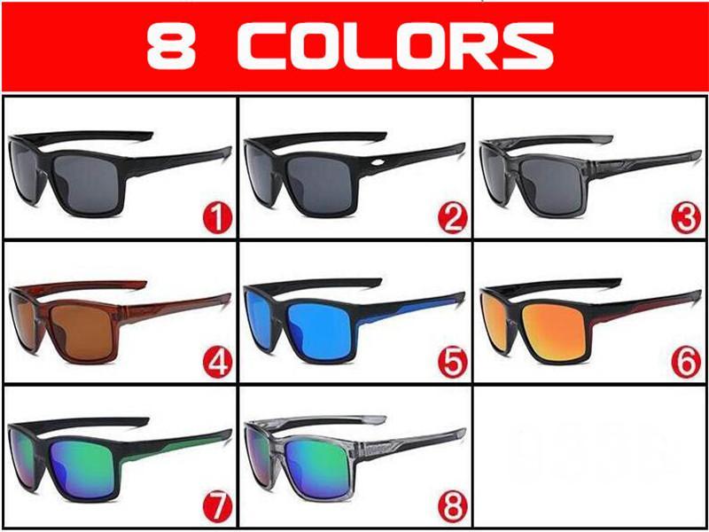 gözlük göz kamaştırıcı Moda 8 renk Tasarımcı YAZ bisiklet spor moda güneş gözlüğü kadın erkek Plaj Bisiklet Güneş Gözlükleri kaplama yansıtıcı