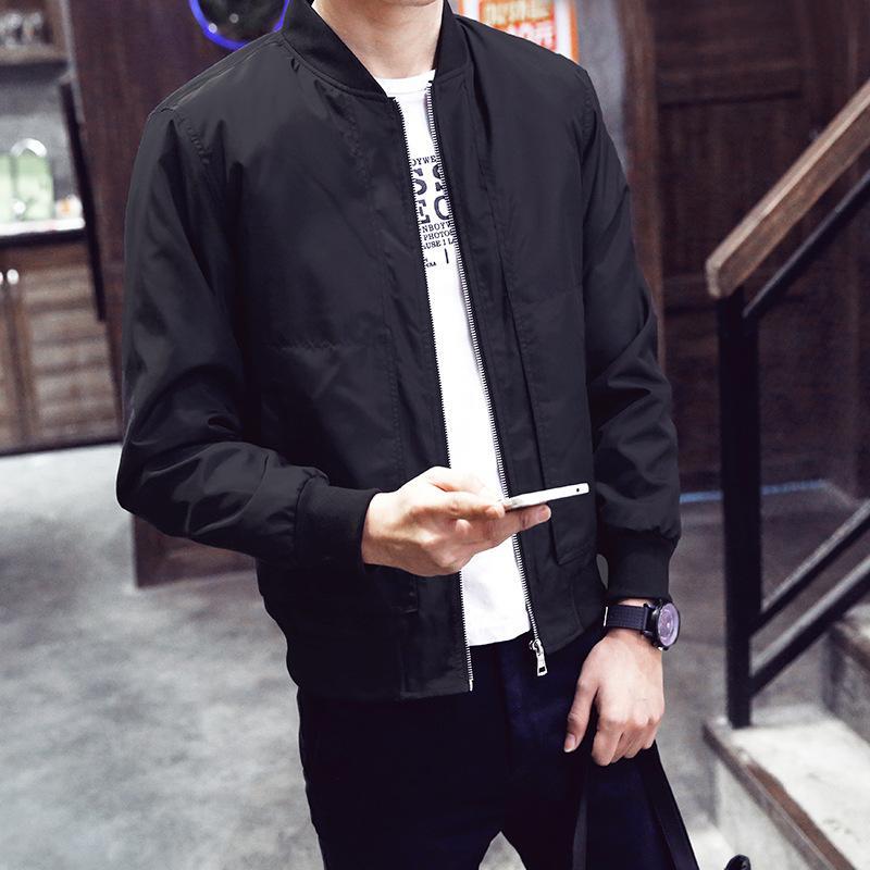 2020 Marka Erkekler'S Ceket Bahar Ve Sonbahar Sıskaların'S Beyzbol Yaka Katı Renk Casual Ceket