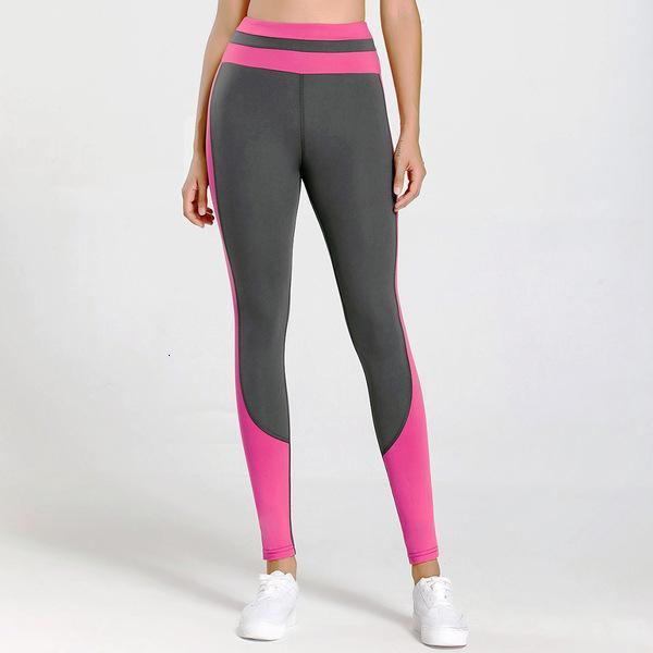 Новый персик бедра высокая талия фитнес быстрый сухой беглый контрастный цвет йога брюки женские капризы