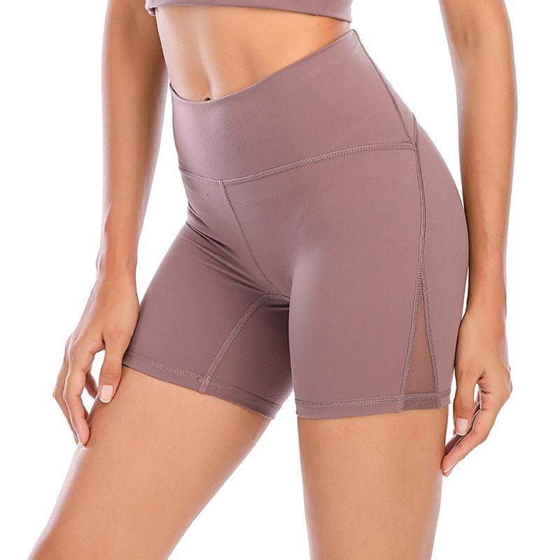 [Versand innerhalb von 8 Tagen] Lu Leggings Yoga Outfit Oberschenkeldesigner Womens Trainingsgymnastik Tragen Massive Sport Elastische Fitness Richtig Shr Kurz 4 Hose
