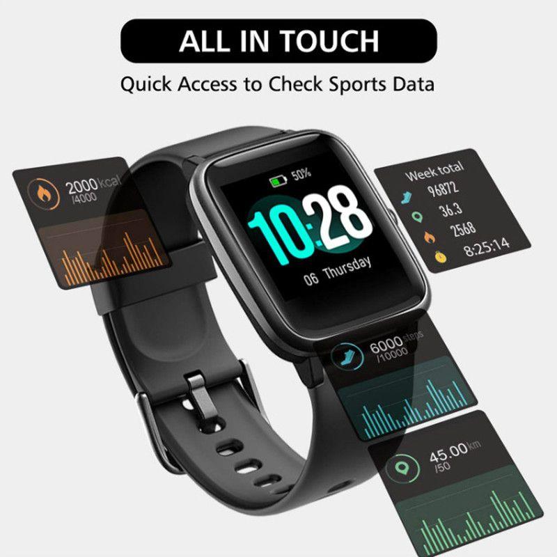 뜨거운 판매 ID116 플러스 피트니스 트래커 심박수 스마트 시계 밴드가있는 스마트 팔찌 컬러 스크린