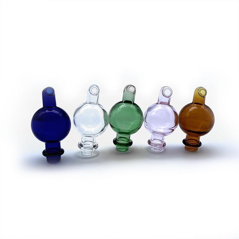 Capuchon en glucides en verre avec trou directionnel 25mmod Couleur en verre Casquettes Casquettes de verre de verre pour biseauté Band Banger Banger Nails Bongs