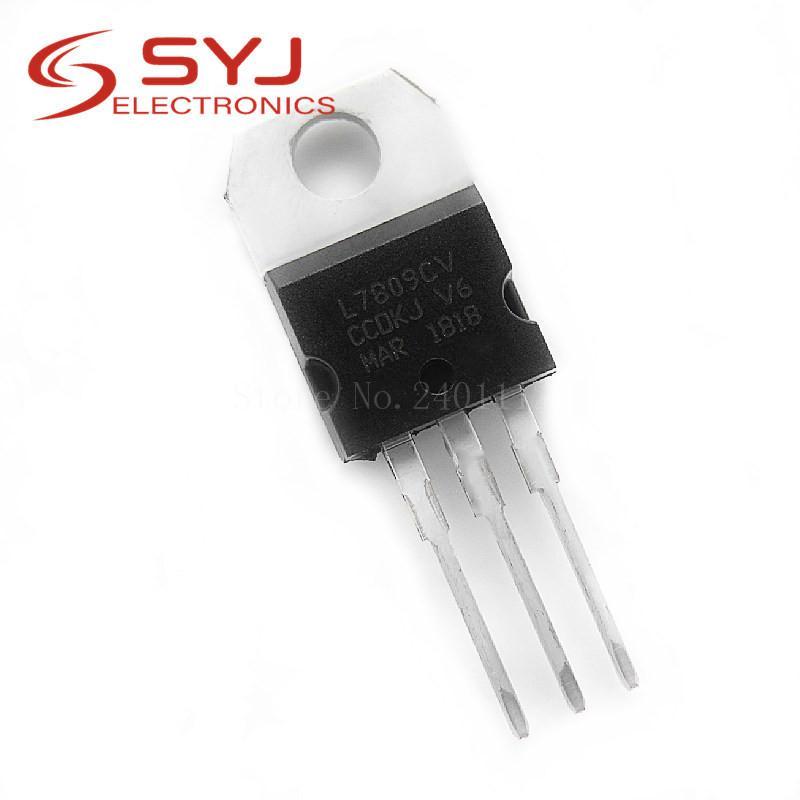 10pcs / lot L7809CV TO220 L7809 CW7809 ZU-220 7809 LM7809 MC7809 novo e original IC em estoque