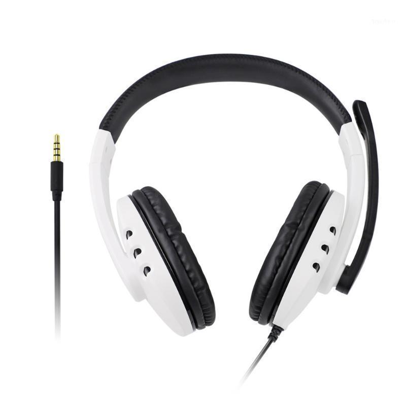 Cuffia da gioco Auricolare microfono con cablato da gioco per cuffie per PS4 / interruttore / One / 360 / PC Over-Ear Earphone Gaming Auricolare1