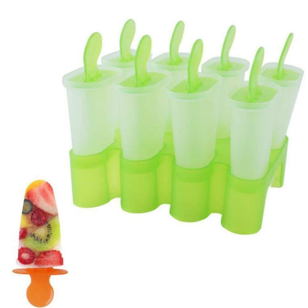 1 Set 8 Celdas paletas moldes de plástico congelado Ice Cream Pop Molde de paleta fabricante de molde de la bandeja del polo Pan herramienta del fabricante de T200703