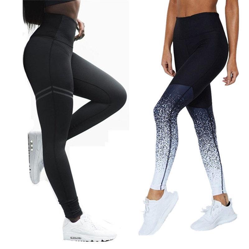 Женщины леггинсы для фитнеса высокая талия разминка носить беговые колготки спортивные брюки бесшовные леггинсы спортивные трусные дышащие S-XL брюки T200515