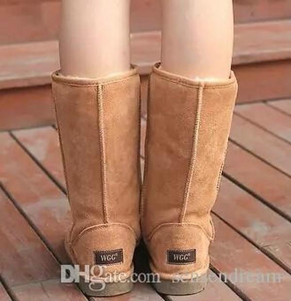 ALL نموذج في حذاء طويل القامة الأحذية النسائية التمهيد الثلوج في فصل الشتاء الأحذية الأسهم الساخن بيع 2017 العلامة التجارية عالية الجودة WGG المرأة الكلاسيكية والجلود التمهيد