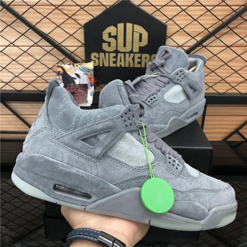 2020 Nouvelle Arrivée Top Qualité Blanc X Voile Hommes Jumpman 4 4S Chaussures de basketball Kaws Travis Scotts Cactus Jack Cool Gris Femme Trainer Chaussures