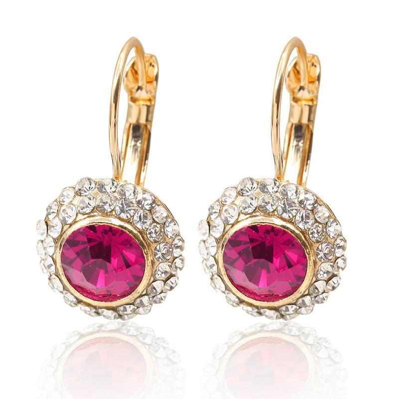 Nueva joyería clásica caliente de la venta de Moon River y diamantes pendientes redondo al por mayor