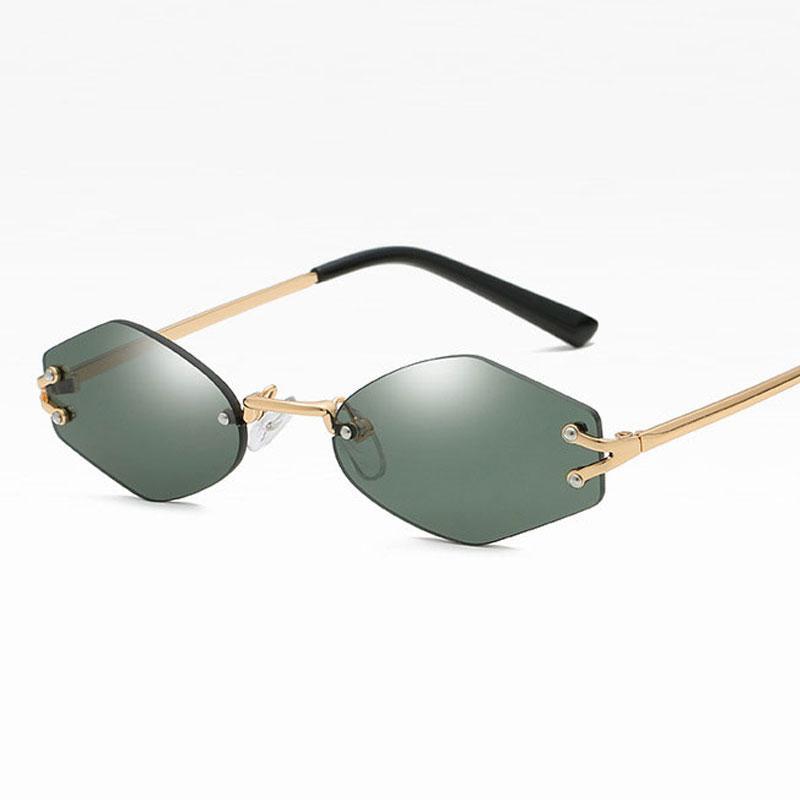 20Fashion altıgen Çerçevesiz Güneş kadınlar Retro Erkekler Punk küçük çerçeve Güneş Gözlükleri kadınlar UV400 gözlük aksesuar