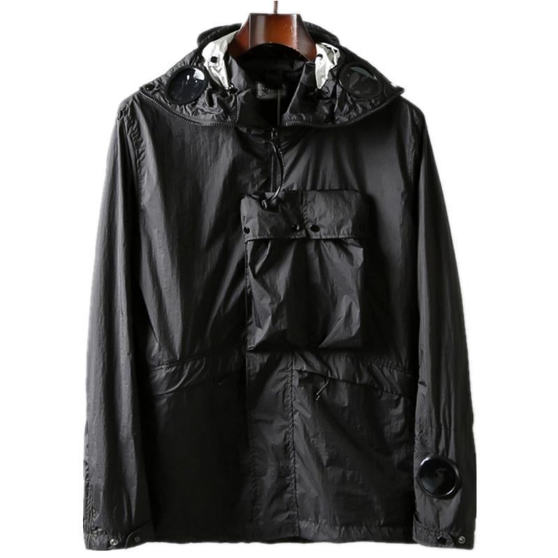 Topstoney 2020 Konng Gonng Sıcak Satış Gözlüğü Kapşonlu Ceket Bahar Ve Sonbahar Açık Rüzgarlık Moda Marka Metal Naylon Coat