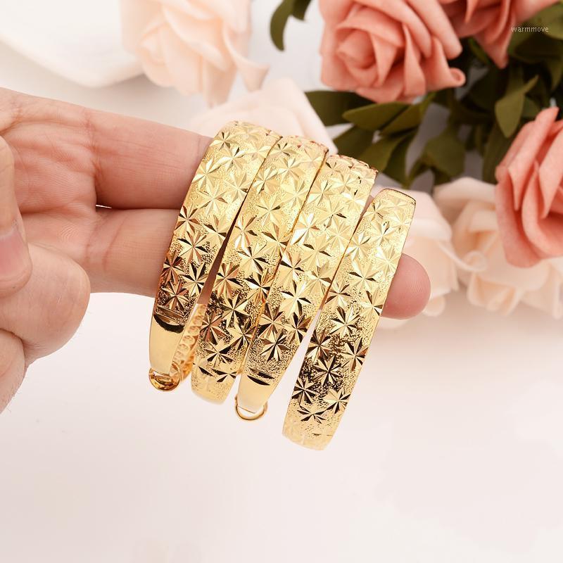 12 шт. Отрегулируйте золотой браслет для женщин Золотой Дубай невеста Свадебный эфиопский браслет Африка браслет ювелирные изделия браслет браслет подарки1
