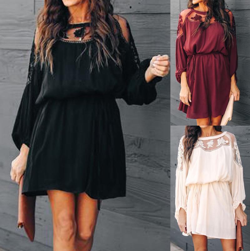 Vestidos Verano 2020 Femmes Robe Robes Femme Partie Soirée Robe à manches longues