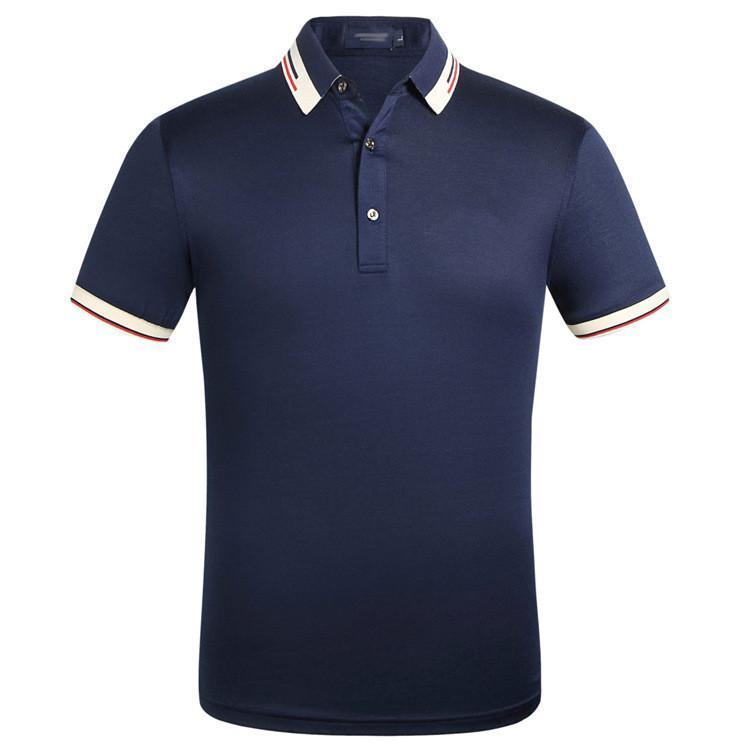 Brand New High Street Designers Mens Polos Fashion Casual Men Polo Ricamo Bee Snake Polo T Shirt No.2s