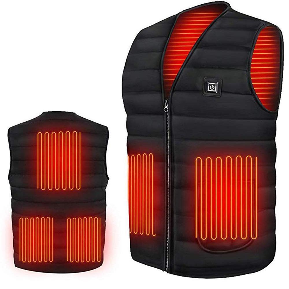 الرجال خريف وشتاء الذكية التدفئة القطن الصدرية USB الأشعة تحت الحمراء التدفئة الكهربائية الصدرية النساء في الهواء الطلق مرنة الحرارية شتاء دافئ سترات LJ200916