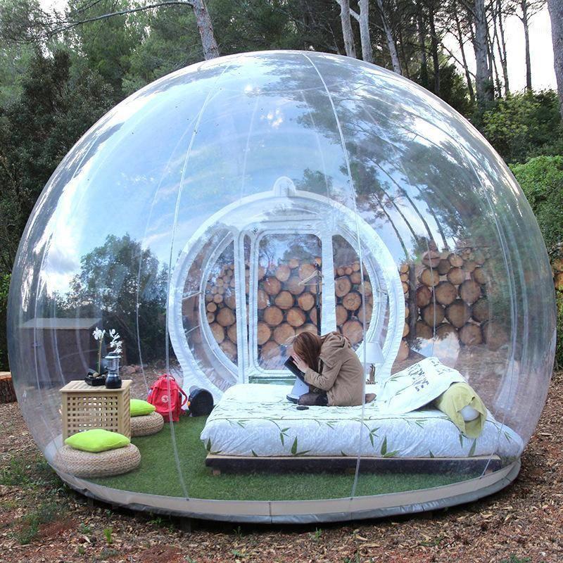 Camping en plein air Gonflable Bubble Tente Grande maison de bricolage Home Home Courrier Camping Cabin Cabin Lodge Bubble Tente transparente