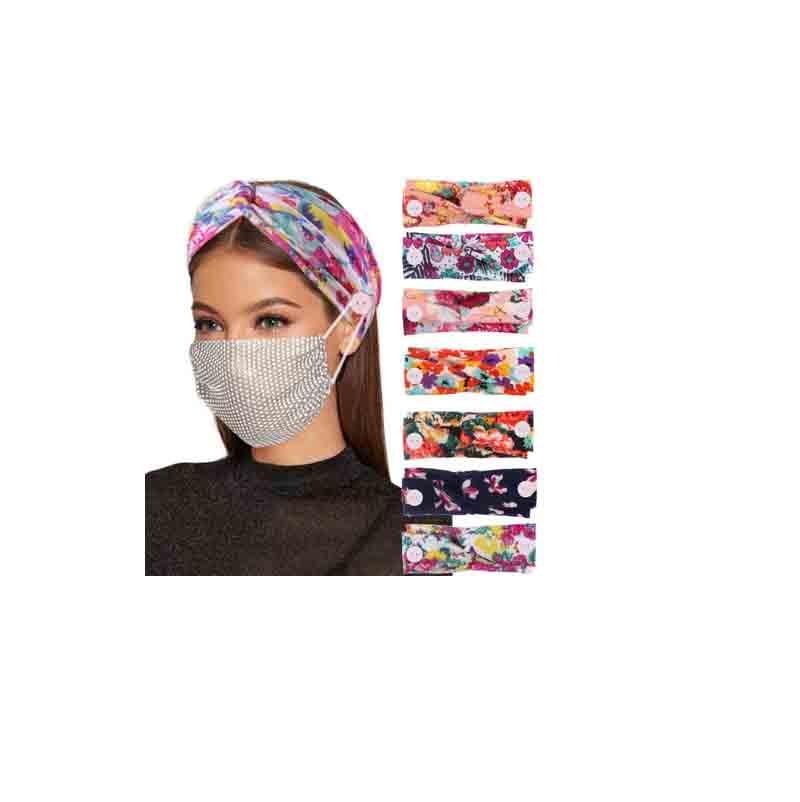 2020 Sommer Frauen elastische non-marking Maske Stirnband Damen kreuzen anti-Takt Stirnband Yoga-Taste Kopfschmuck