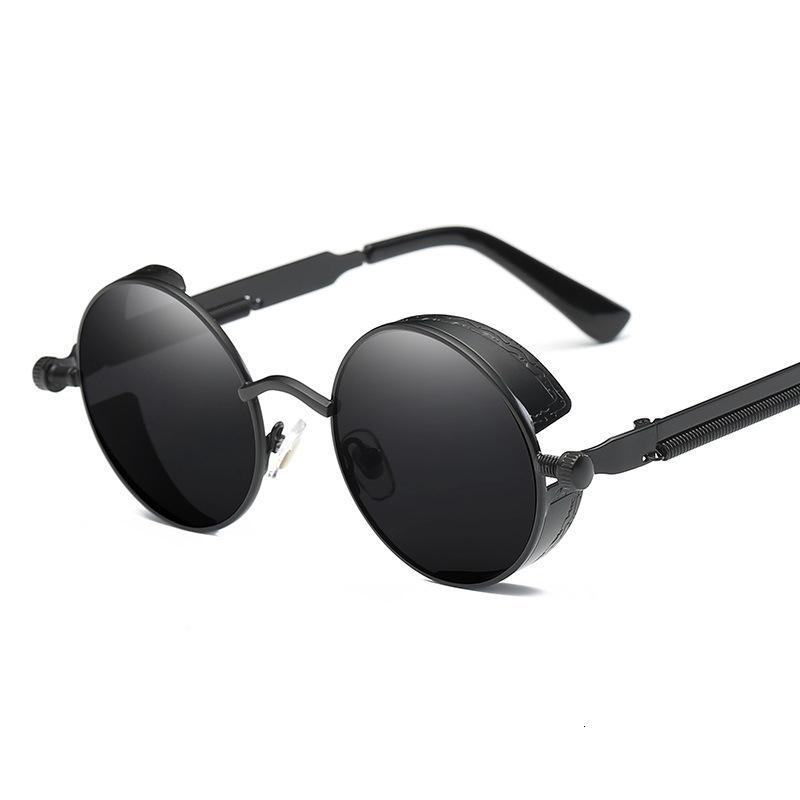 Mode Männer Frauen Männer 2020 Sonnenbrille Vintage Frauen Fahren Retro Steampunk Goggle Runde Angeln UV400 Hohe Qualität WXDTE