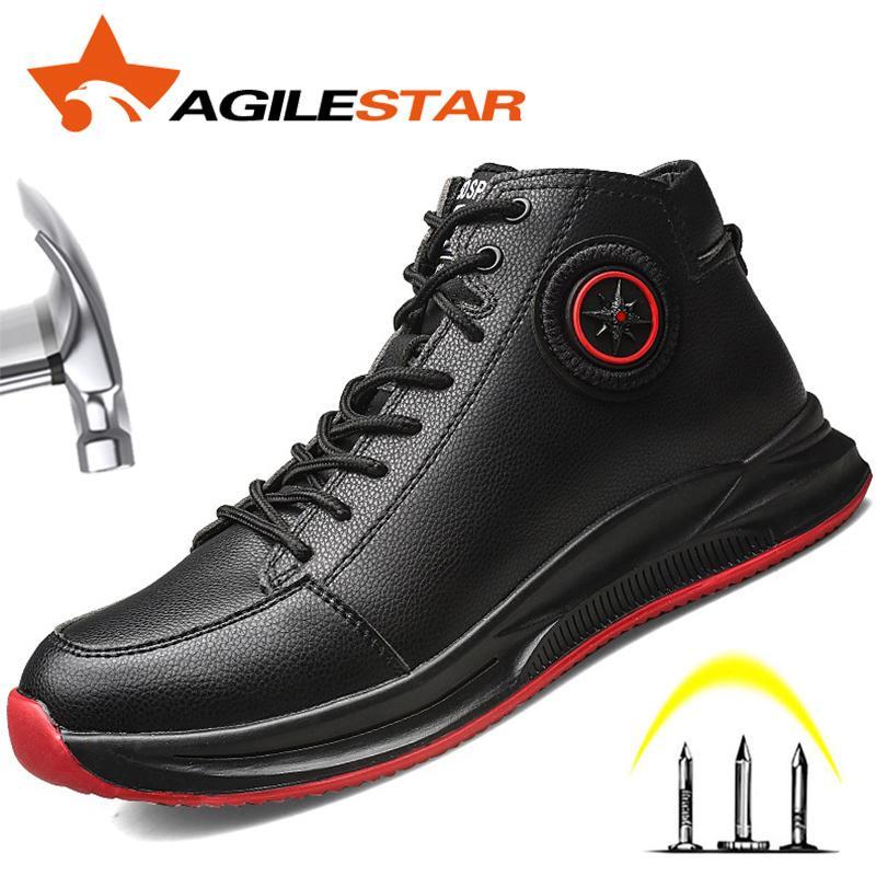 Zapatos de trabajo con punta de acero de seguridad Martin botas Oficina Hombres Industrial Botas indestructible contra Smashing protectora resistente a los pinchazos 201019