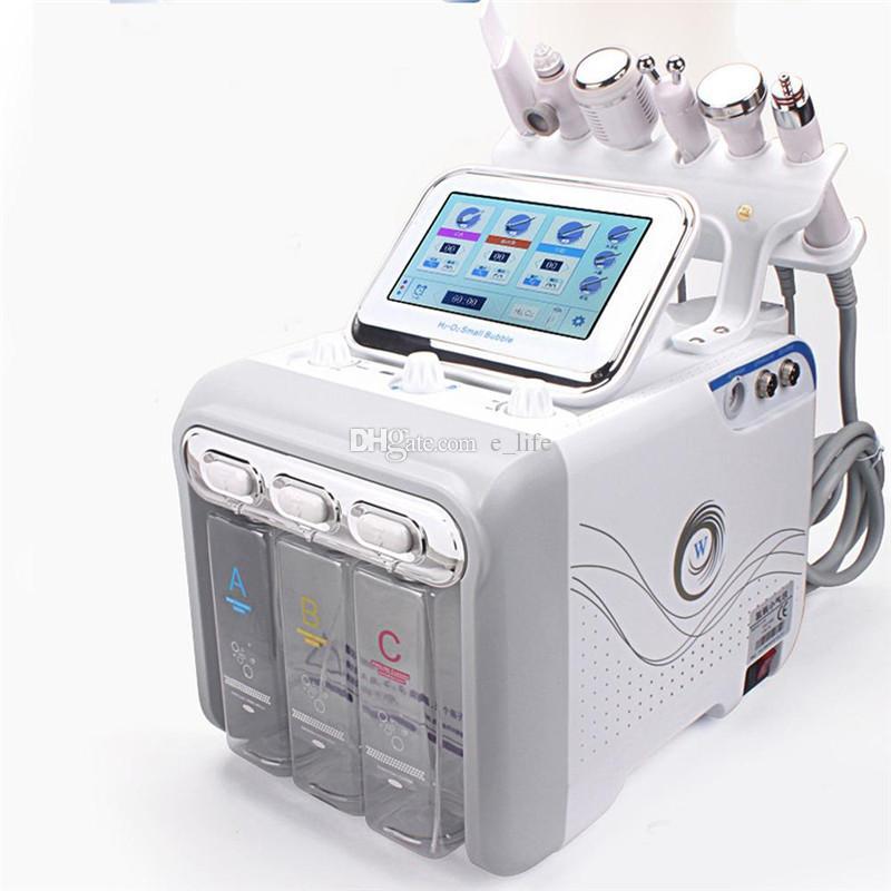 6 في 1 آلة هيدرا الوجه الجلد Rejuvenaiton اللوازم الطبية هيدرو جلدي إزالة بيو رفع التجاعيد Hydrafacial آلة سبا
