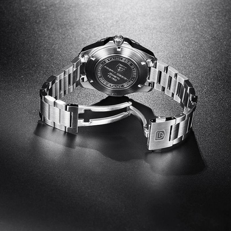 Мужские часов Корпуса часов PAGANI DESIGN из нержавеющей стали для мужчин светящихся рук спорта Seagull 2813 движения бизнеса роскошных часов