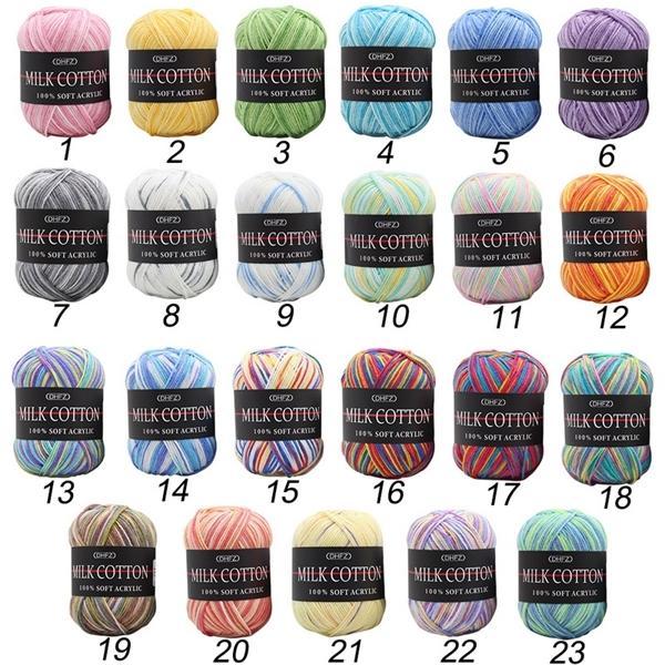 Latte del bambino cotone crochet calda lana Chunky Giovani lavorate a mano del filato Knit Blanket maglione C1030