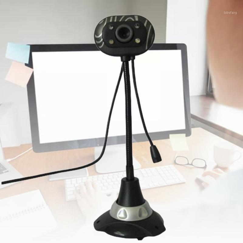 USB-Desktop HD-Webcams Web-Kamera eingebaute Nacht-LED-Leuchten für Computer-PC-Laptop-Videoaufzeichnung / Call1