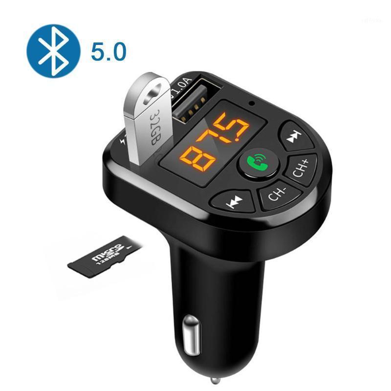 E5 Araba Bluetooth 5.0 FM MP3 Çalar Verici Kablosuz Handsfree Ses Alıcısı TF 3.1A USB Hızlı Şarj Araba Aksesuarları1