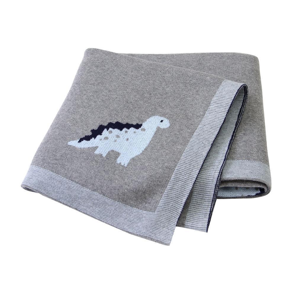 Baby Blankets Soft Newborn Infant Bebes Cotton Blankets 100*80cm Dinosaur Knitted Toddler Kids Swaddle Wrap Stroller Bed Quilts Y201001