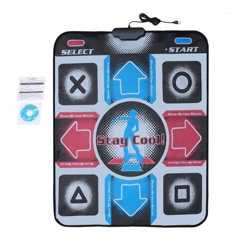 Pad de dança antiderrapante dançando passo de dança pad pads com USB para PC TV AV Video Game Dancer Cobertor1