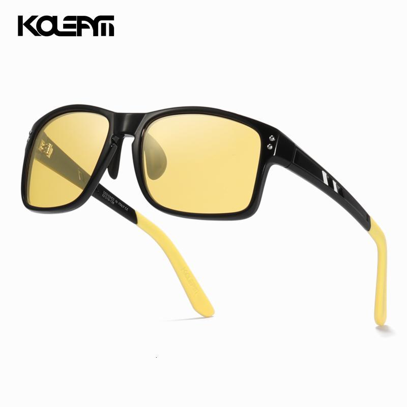 Kdeam lusso di qualità eccellente di visione notturna occhiali TR90 guida Eyewear con il caso