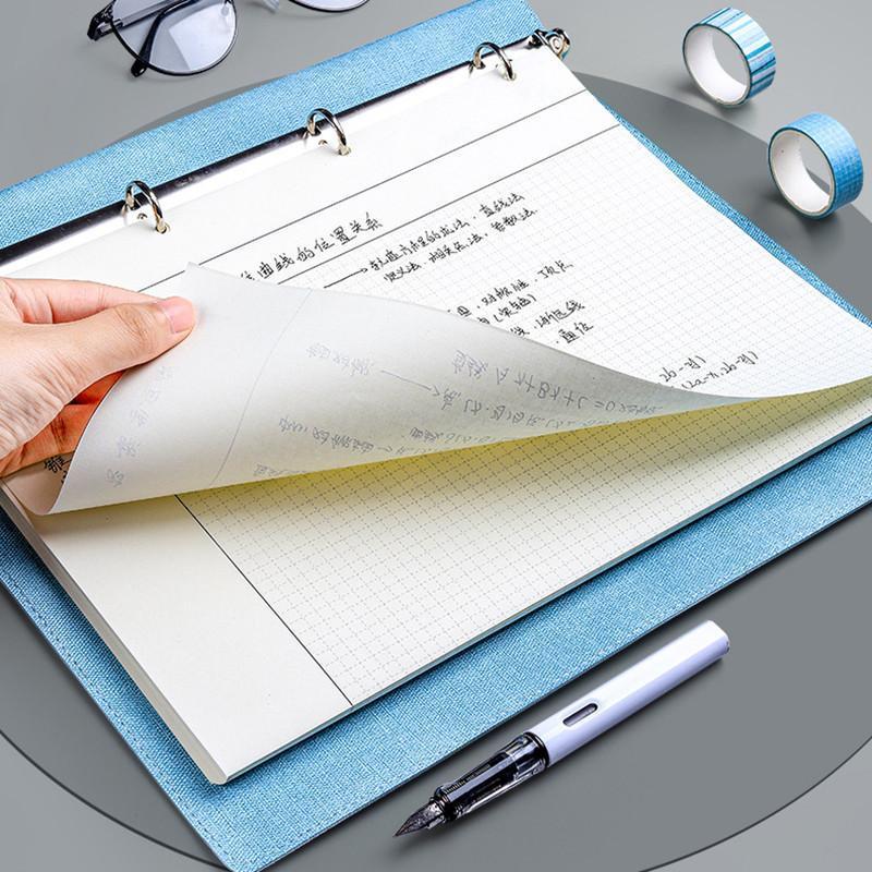 Notepads Loose Feuille Spirale Binder Notebook Grille Daily Hebdomadaire Hebdomadaire Plan mensuel Book A4 B5 Work Réunion Notepad PU Cuir Fournitures de bureau