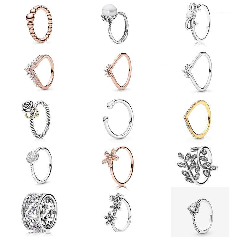 KAKANY 100% 925 Sterling Silver Daisy Ring Rose Gold Princess Westbourne Ring Original Fashion Women Gift Holiday Jewelry1