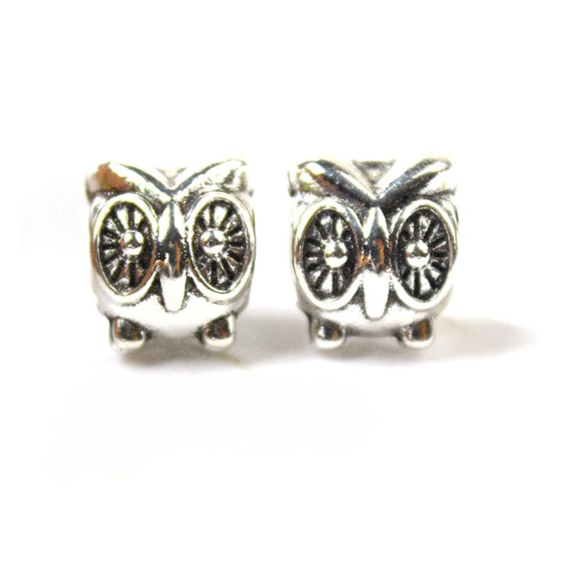 Cute Owl Alloy Charm For Pandora Bracelet Snake Chain Or Necklace Fashion Jewelry Loose Bead New Arrival