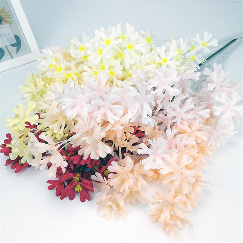 ARTIFICIALE FLOWER Branch Tessuto di seta Fiore Fiore Festa di nozze Casa Mall Mall Festival Decor Soggiorno Display Silk Flower Plants GWD4147