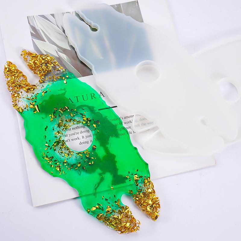 에폭시 수지 실리카 젤 몰드 트레이 몰드 불규칙적 인 레이스 안경 와인 컵 홀더 금형 부드러운 투명 DIY 패션 새로운 4 5xC N2