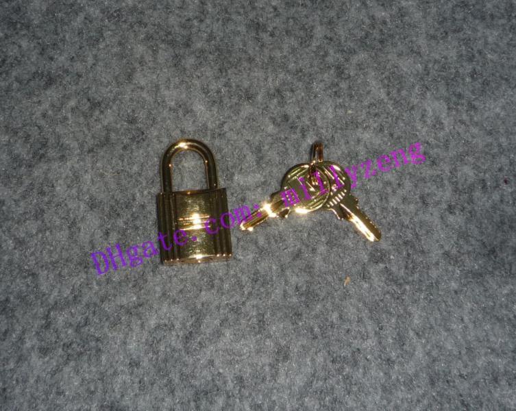 Fechamento da bagagem cadeado de segurança Key tom de ouro brilhar para Berkin Keally Handbag inoxidável liga metálica frete grátis 079