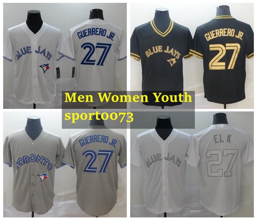 Hombres mujeres juventud torontoBluejaysJersey 27 Vladimir Guerrero Jr. Jersey 11 Bo Bichette 99 Hyun-Jin Ryu Baseball Jersey 11011