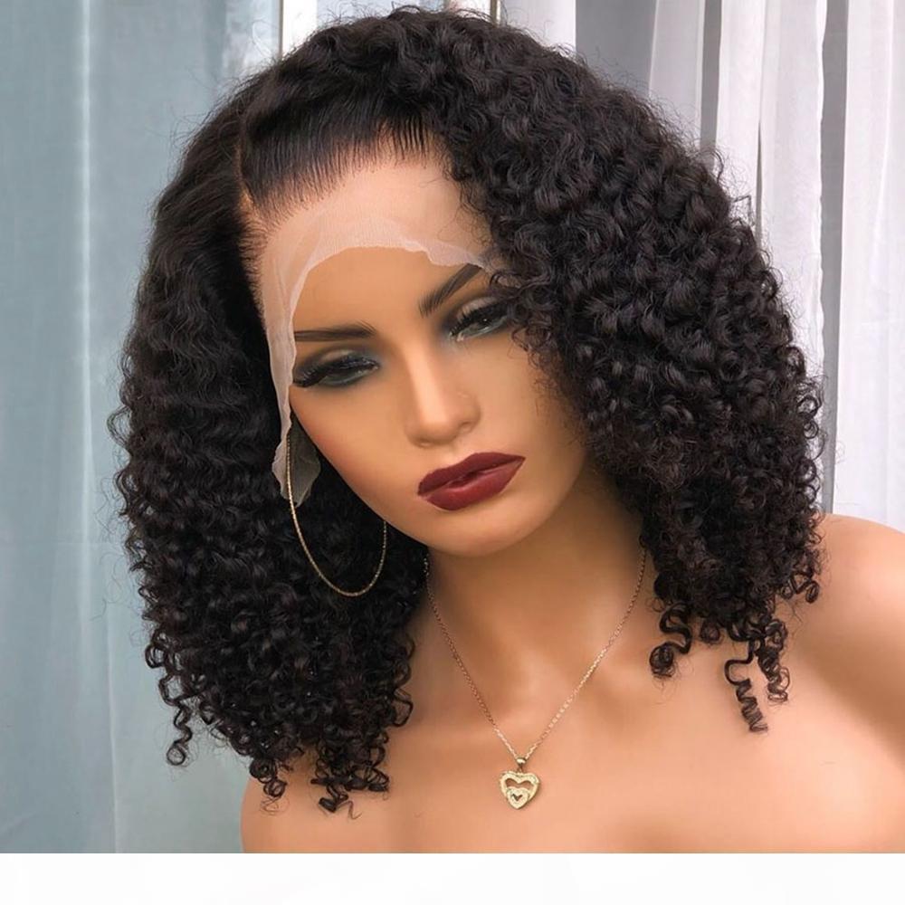 Peluca de encaje de encaje completo rizado peruano rizado 360 encaje pelucas frontales con nudos blanqueados 13x6 Frente de encaje Pelucas de cabello humano para mujeres negras